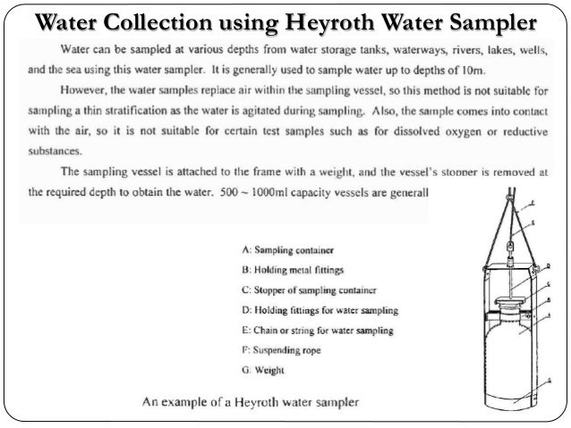 Water Collection using Heyroth Water Sampler
