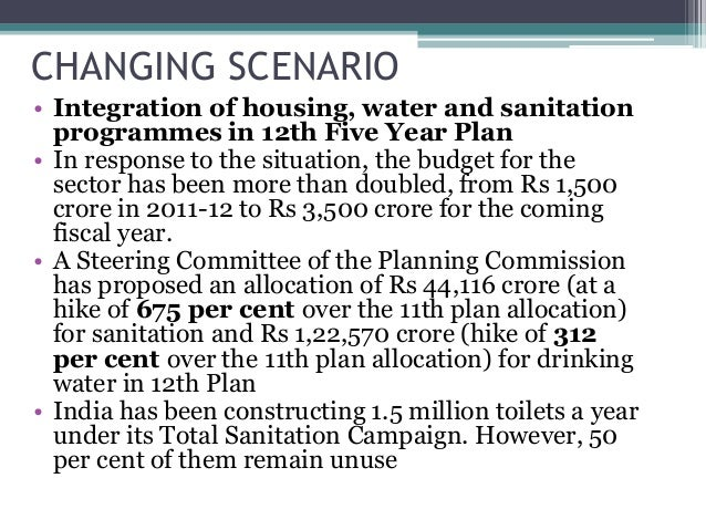 total sanitation programme in india The nirmal bharat abhiyan had a budget outlay of rs 4260 crore, but at the end  of the programme india still remained the country with the.
