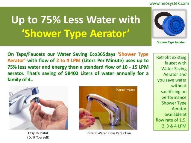 Water Saving Devices By Eco365days Neo Systek