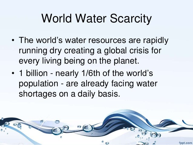 an analysis of the earths water scarcity New analysis shows that the water scarcity being experienced in southeast australia started up to 15 years ago water deep in earth's mantle water scarcity in southeast australia started 15 years ago date: september 4, 2009 source.