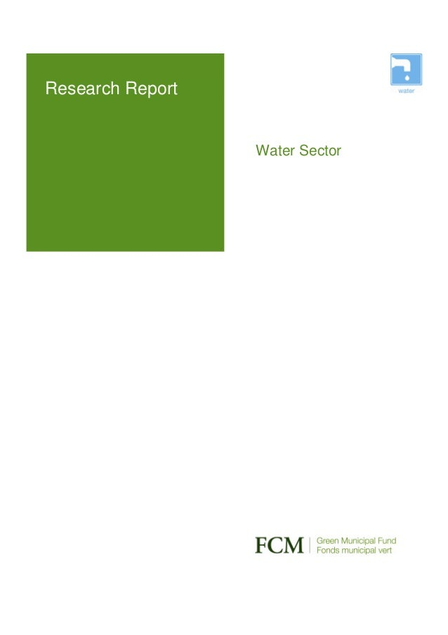 Research Report                  Water Sector