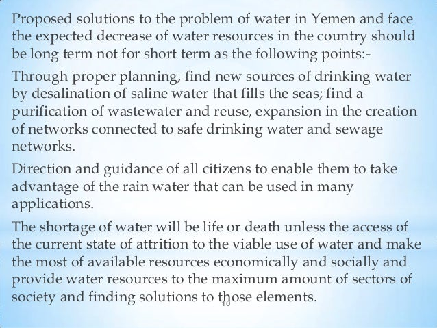 Water shortage in yemen