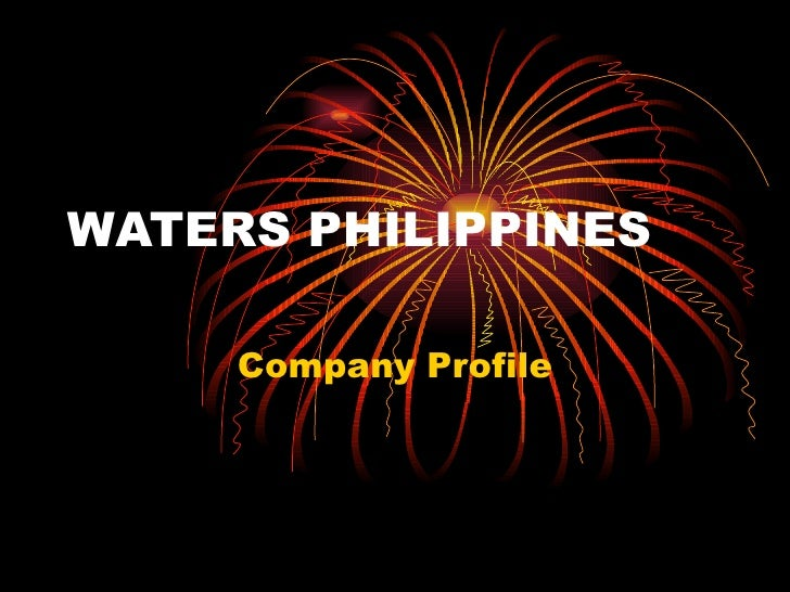 WATERS PHILIPPINES Company Profile