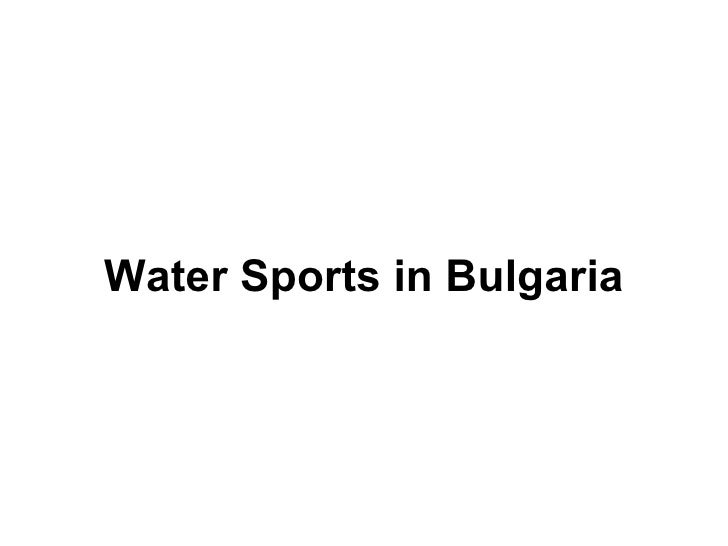 Water Sports in Bulgaria