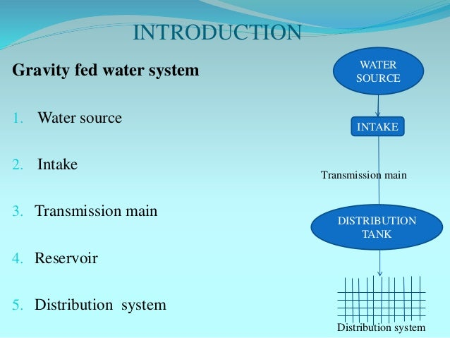 Survey And Design Of Gravity Fed Water Supply System At A Dadagaun B