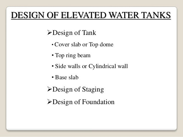Flat bottom Overhead Water tank
