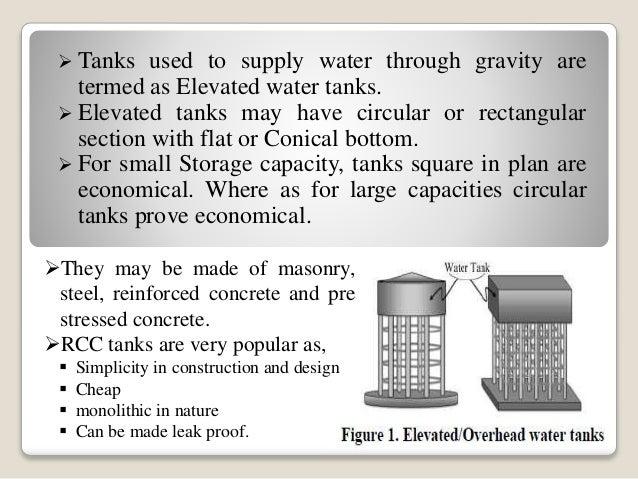 Flat bottom Overhead Water tank