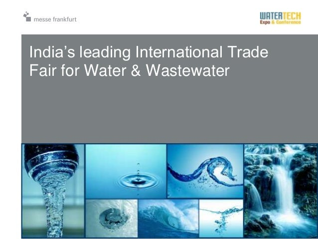 India's leading International TradeFair for Water & Wastewater