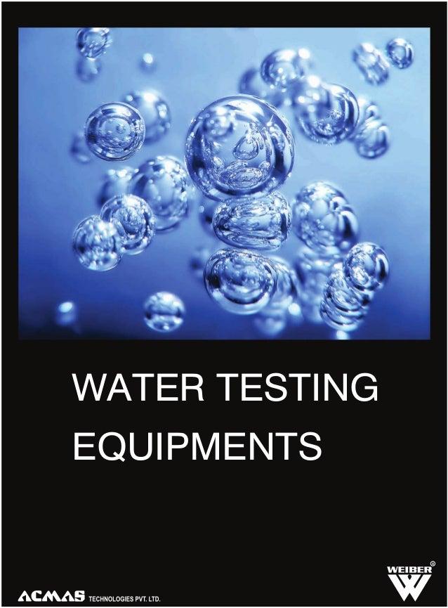 WATER TESTING EQUIPMENTS  R