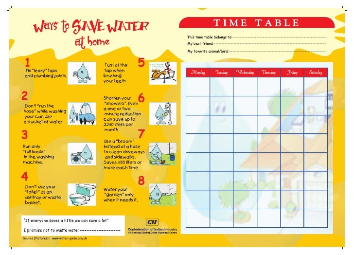Water Time Table