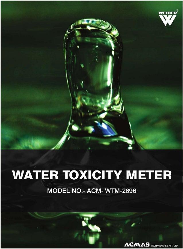 R  WATER TOXICITY METER MODEL NO.- ACM- WTM-2696