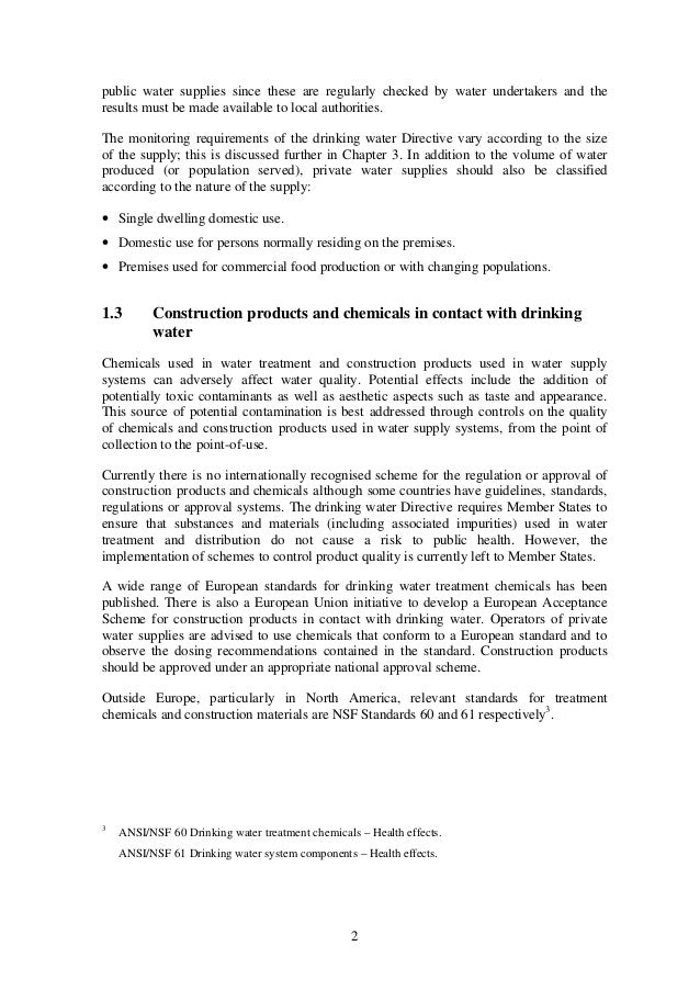 Council Directive  Ec Drinking Water