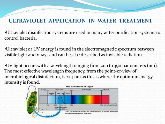 Water treatment-WATER TREATMENT PROCESS-OZONISATION AND UV