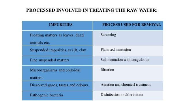 raw water treatment process pdf