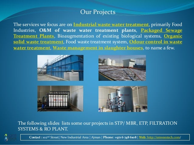 Water treatment projects in UAE by emvees