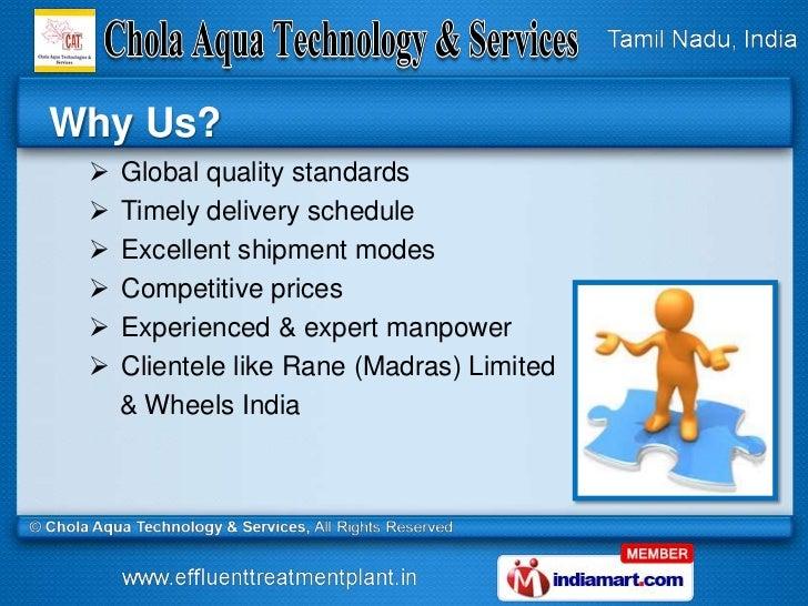 Water Treatment Technologies by Chola Aqua Technology & Services, Chennai Slide 3