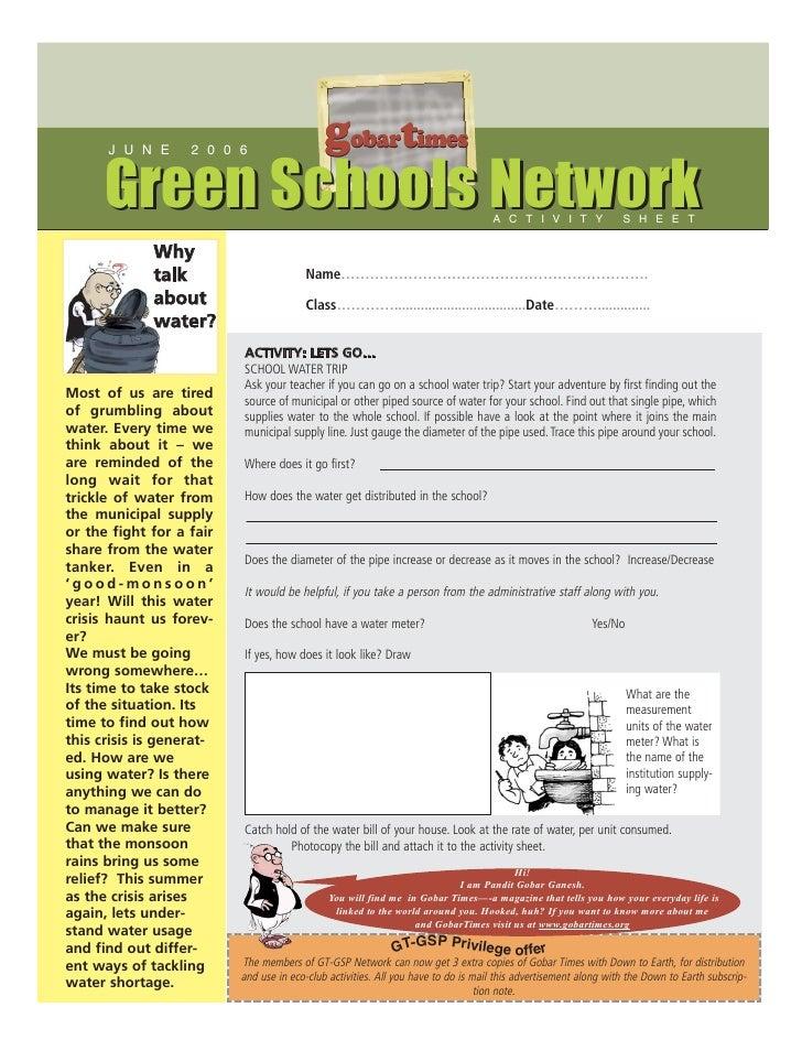 J U N E      2 0 0 6                                              gobartimes       Green Schools Network                  ...