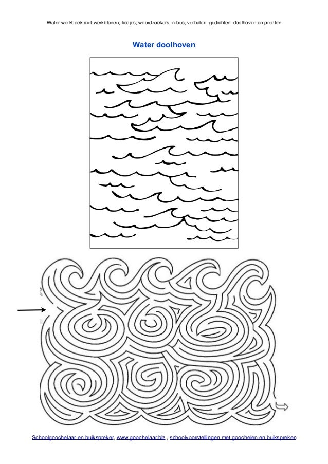 Welp Water werkboek met water thema werkbladen van schoolgoochelaar en bui… XW-84