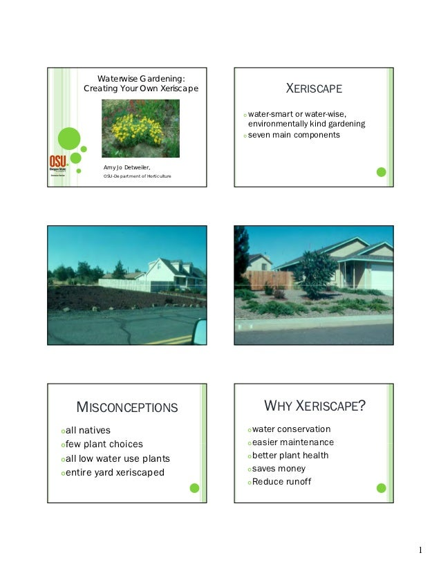 Waterwise Gardening:     Creating Your Own Xeriscape                       XERISCAPE                                      ...