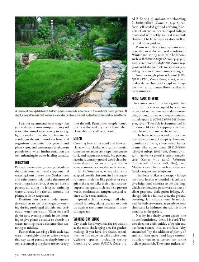 Waterwise Gardening: An Efficient Garden Design Can Reduce Water Cons…