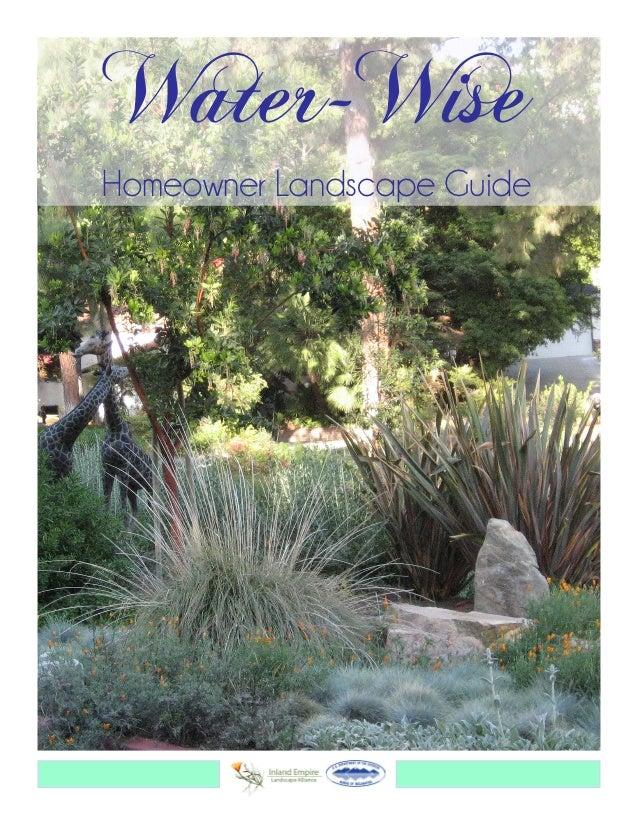 Water-WiseHomeowner Landscape Guide