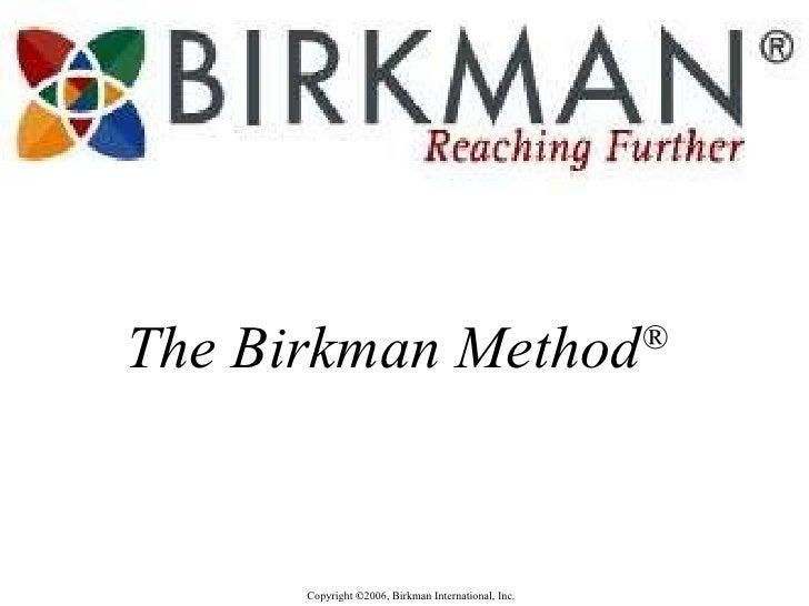 The Birkman Method ®