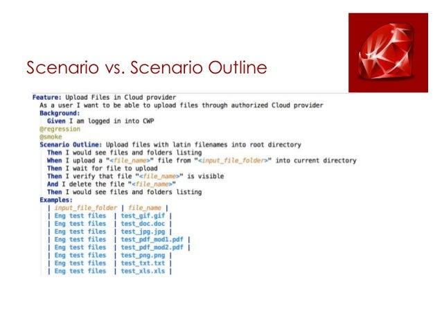 scenario template cucumber - making watir and cucumber an efficient tool for web ui