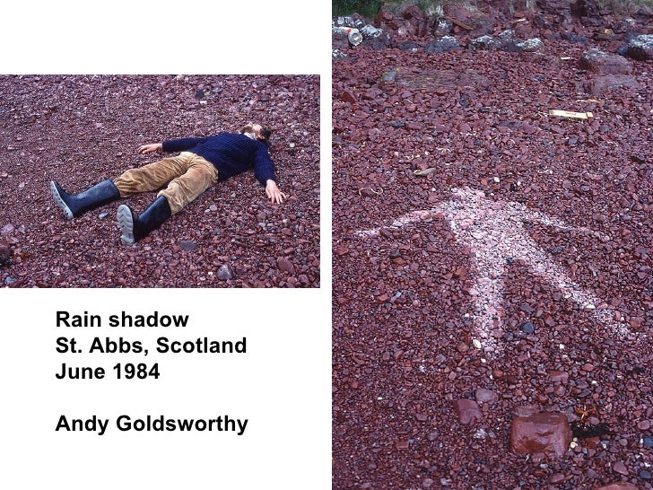 Rain shadow St. Abbs, Scotland June 1984 Andy Goldsworthy