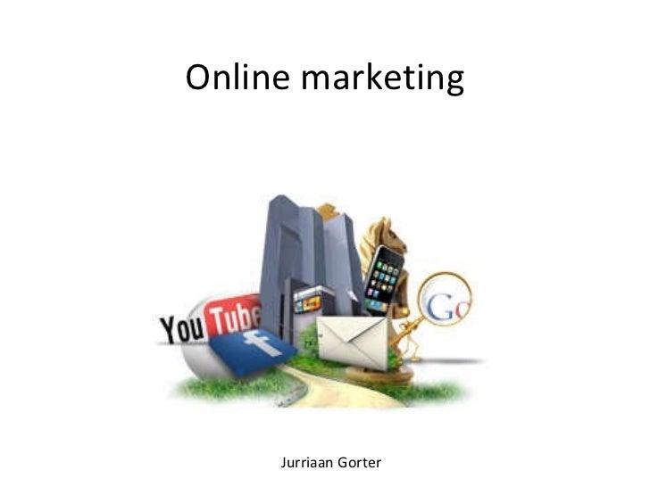 Online marketing Jurriaan Gorter
