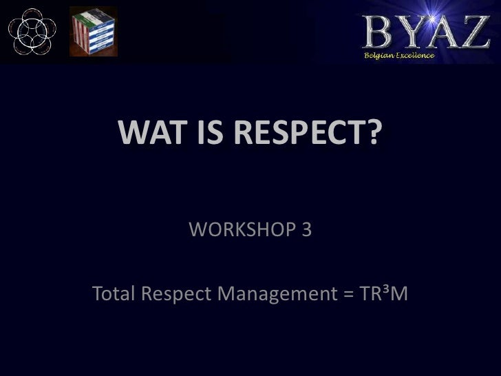 management and respect Bob emiliani published a very good article on principle of respect for people –  an aspect not well understood in lean management.