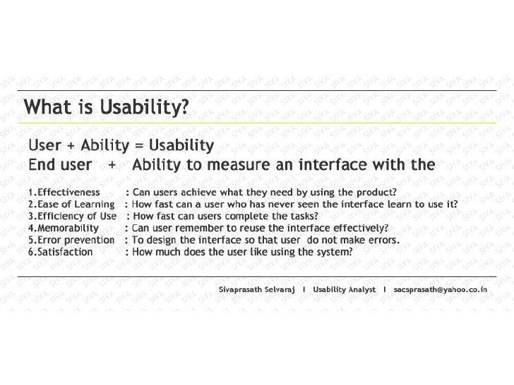 Wat is usability? - Sivaprasath Selvaraj