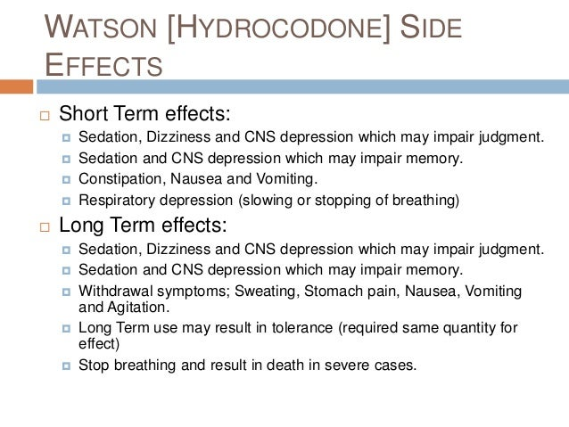 effects vicodin sexual side