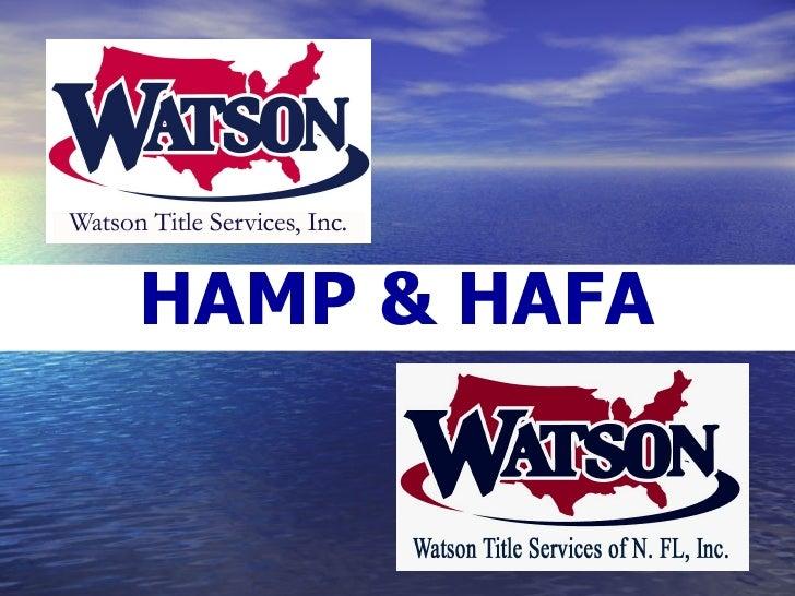 HAMP & HAFA