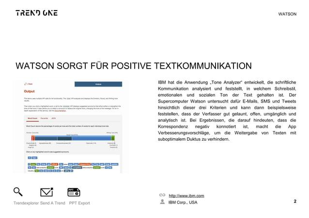 """WATSON SORGT FÜR POSITIVE TEXTKOMMUNIKATION IBM hat die Anwendung """"Tone Analyzer"""" entwickelt, die schriftliche Kommunikati..."""