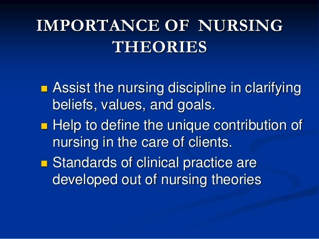 importance of nursing theory to the profession of nursing 1 collegian 201522(4):439-44 leadership in nursing: the importance of recognising inherent values and attributes to secure a positive future for the profession.