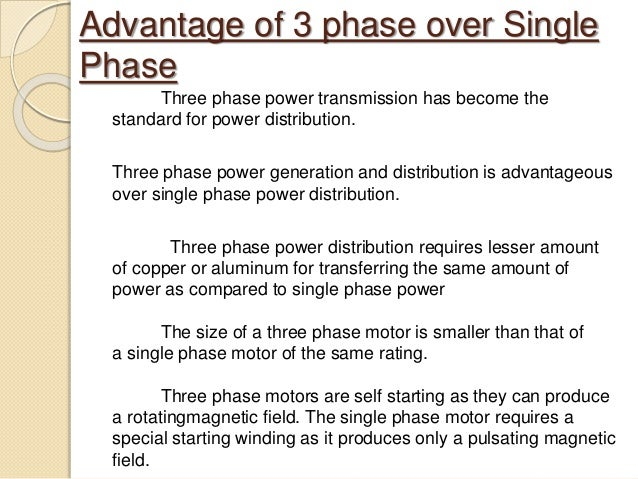 Parison between single phase and 3 phase induction motor for 3 phase vs single phase motor