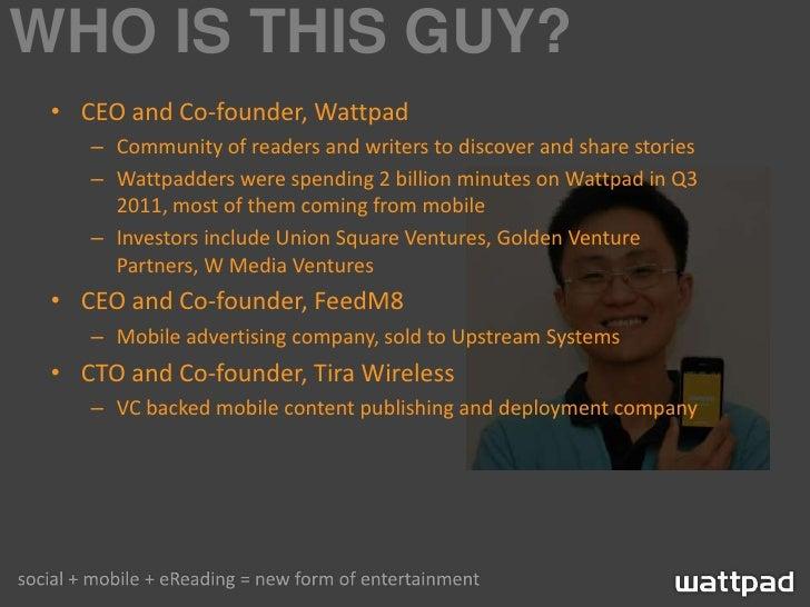 Wattpad AndroidTO 2011 - Android and Monetization