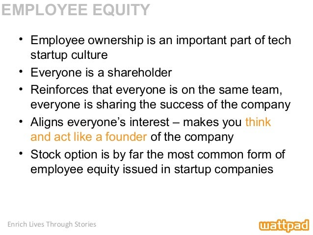 Stock options for startup employees