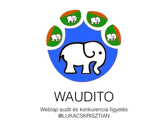 WAUDITO  Weblap audit és konkurencia figyelés  @LUKACSKRISZTIAN
