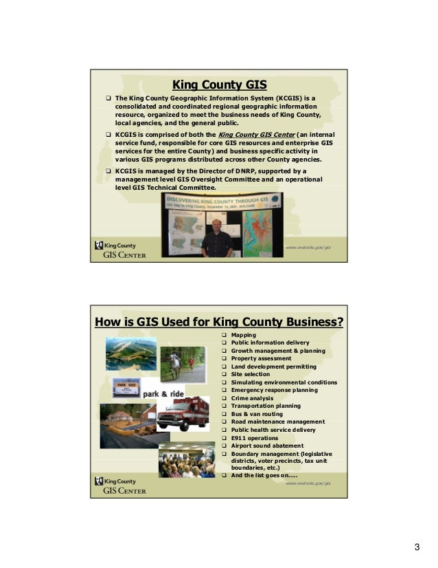 Measuring Enterprise GIS Performance For the King County GIS