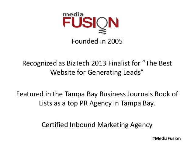 """#MediaFusionFounded in 2005Recognized as BizTech 2013 Finalist for """"The BestWebsite for Generating Leads""""Featured in the T..."""