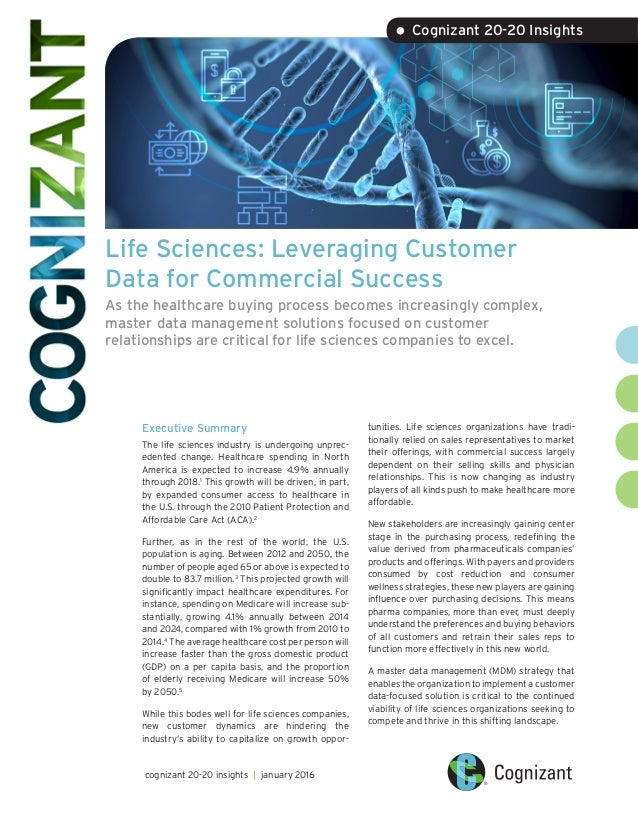 Life Sciences: Leveraging Customer Data for Commercial Success As the healthcare buying process becomes increasingly compl...