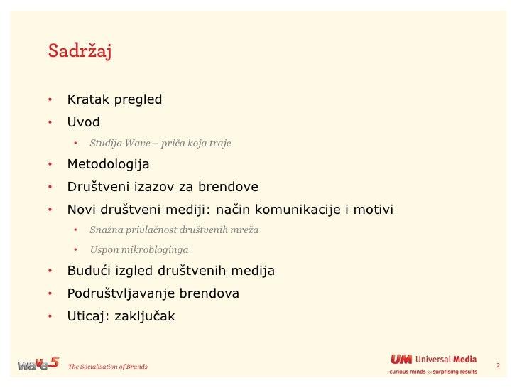 """Wave 5 """"Društvene mreže i brendovi"""" Slide 2"""