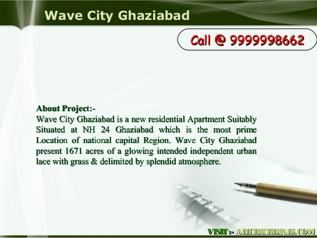 Wave City Ghaziabad, High-Tech Apartments in Ghaziabad Slide 3