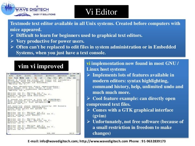 vi editor commands in unix with examples pdf