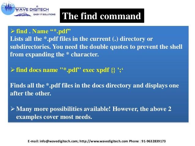 Unix Linux Commands Presentation 2013