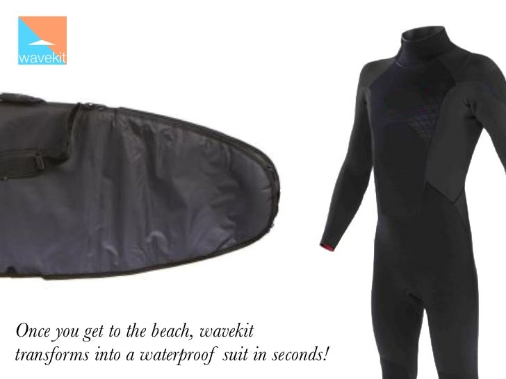 wavekitOnce you get to the beach, wavekittransforms into a waterproof suit in seconds!