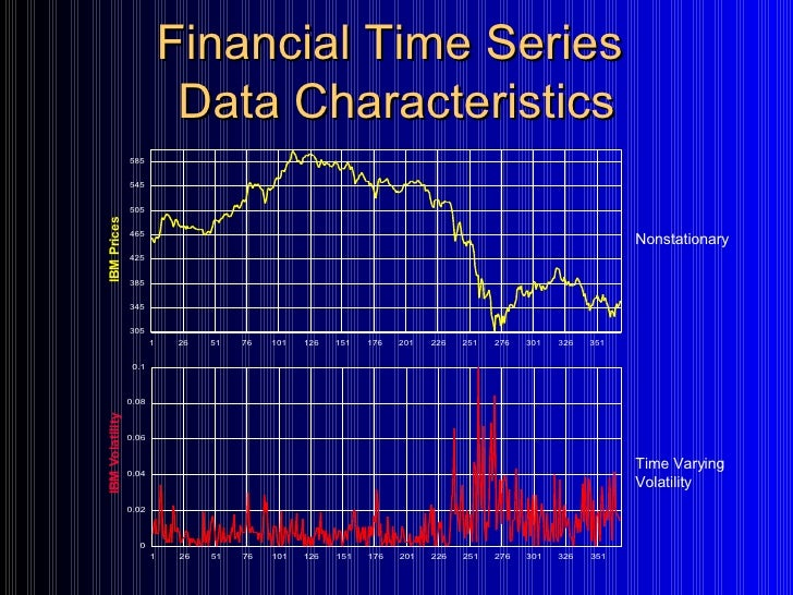 analysis of financial time series Second, a canonical correlation analysis method is utilized to  detecting  financial time series trends is a decision support process, and stock.