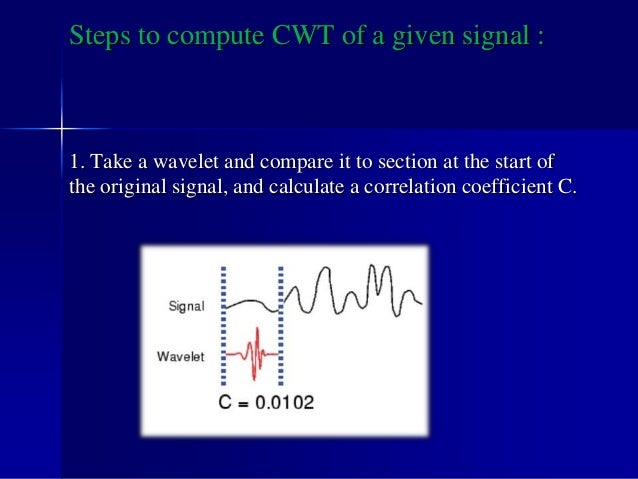 2. Shift the wavelet to the right and repeat step 1 until the whole signal is covered.