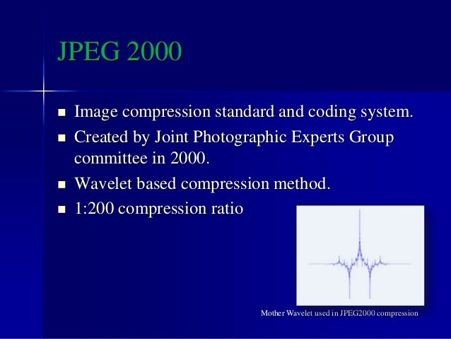 Wavelets can be applied for many different purposes :  Audio compression.  Speech recognition.  Image and video compres...